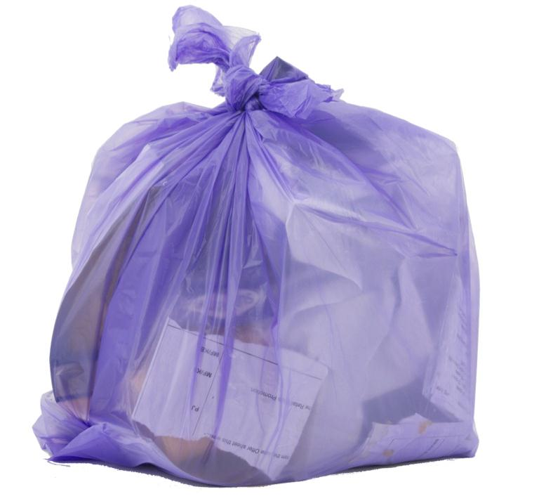 Robinson Young Le Cube Pedal Bin Liners 1060x450mm Lilac Ref RY00362 [Pack 300]