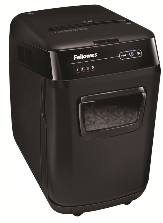 Fellowes AutoMax 200C Professional Shredder 4x38mm Cross Cut 32 Litre P-4 200 Sheets Ref 4652901