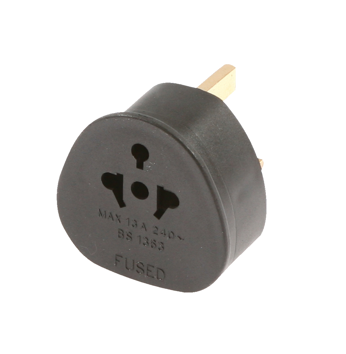 Travel Adaptor European USA and Australian to UK Black