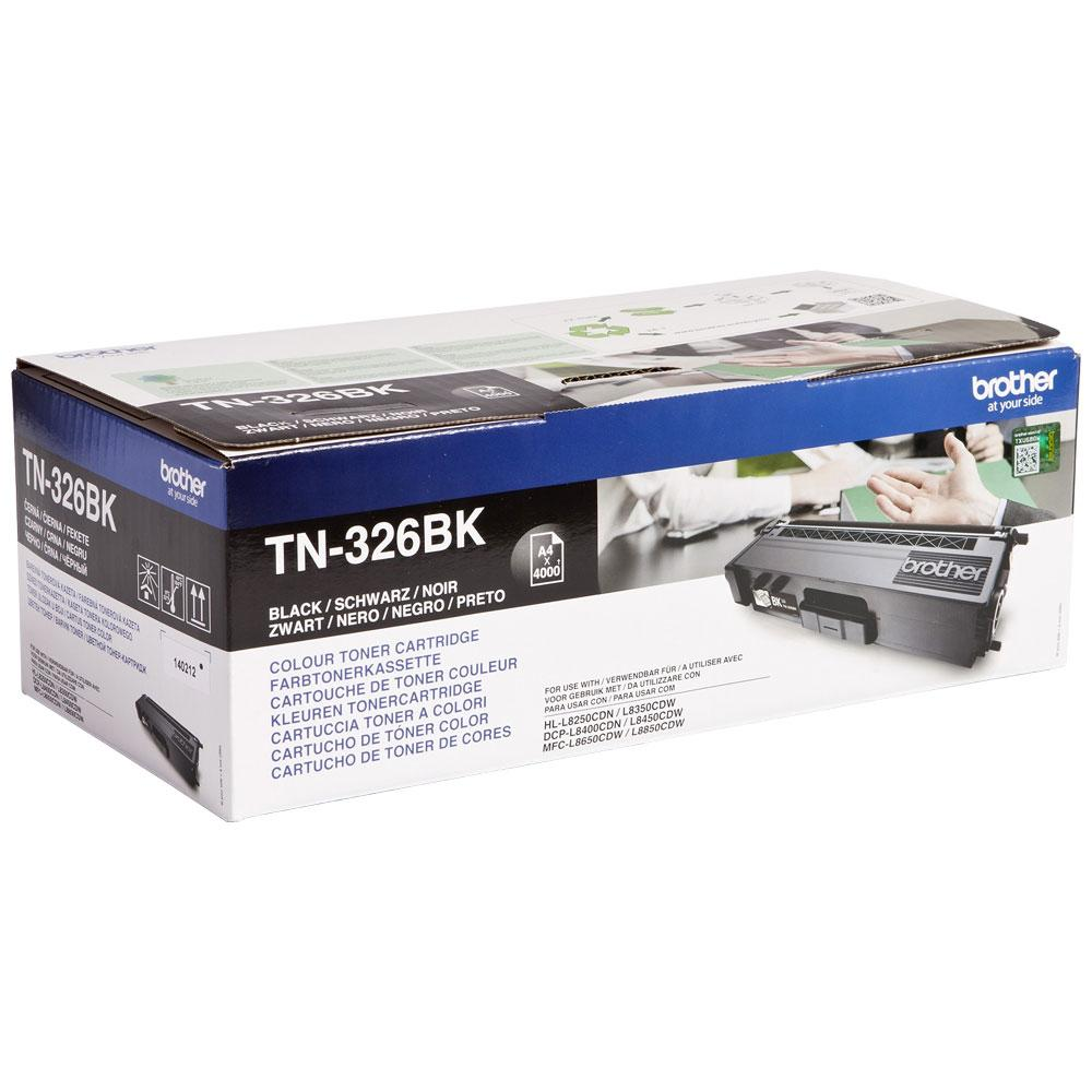 Brother Laser Toner Cartridge High Yield Page Life 4000pp Black Ref TN326BK