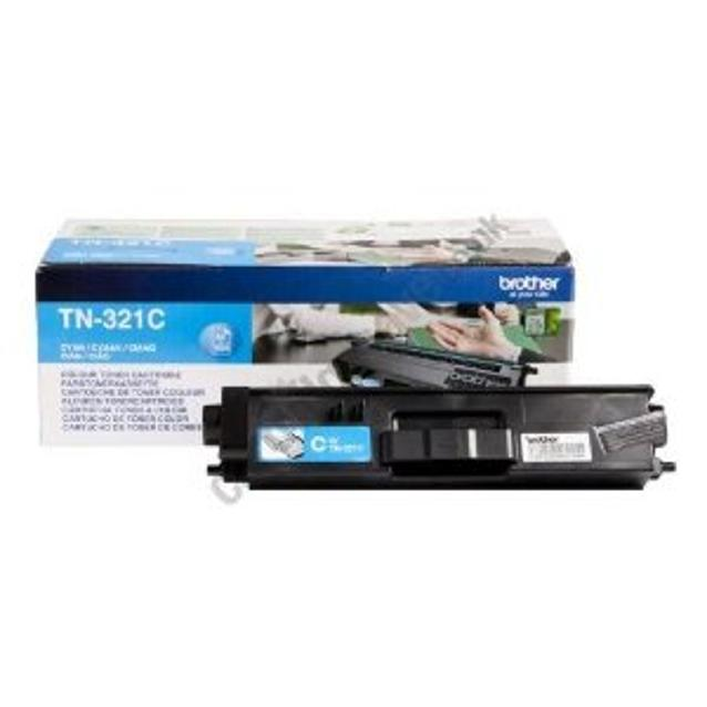 Brother Laser Toner Cartridge Page Life 1500pp Cyan Ref TN321C