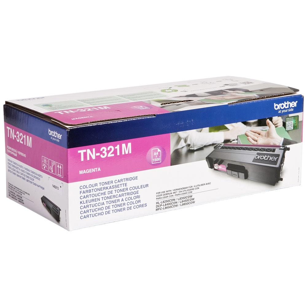 Brother Laser Toner Cartridge Page Life 1500pp Magenta Ref TN321M