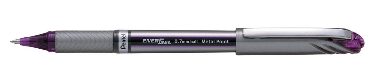 Image for Pentel EnerGel Plus Rollerball Medium 0.7mm Tip 0.35mm Line Violet Ref BL27-V [Pack 12]