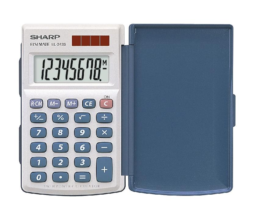 Sharp EL243S Calculator Hand Held with Hard Cover Ref EL243S