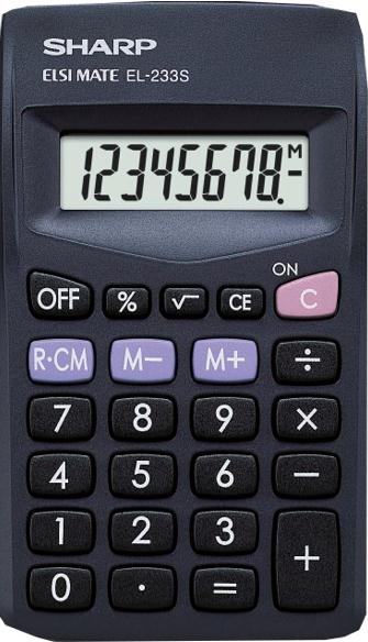 Sharp EL233SBK Calculator Pocket Ref EL233SBBK