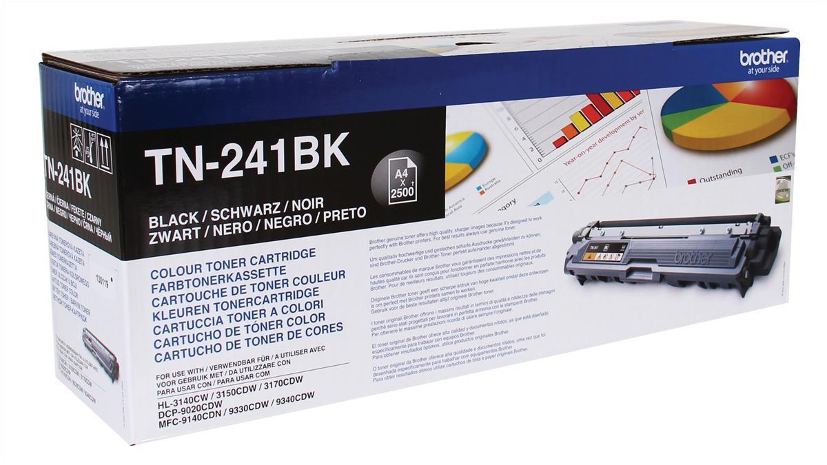 Brother Laser Toner Cartridge Page Life 2500pp Black Ref TN241BK