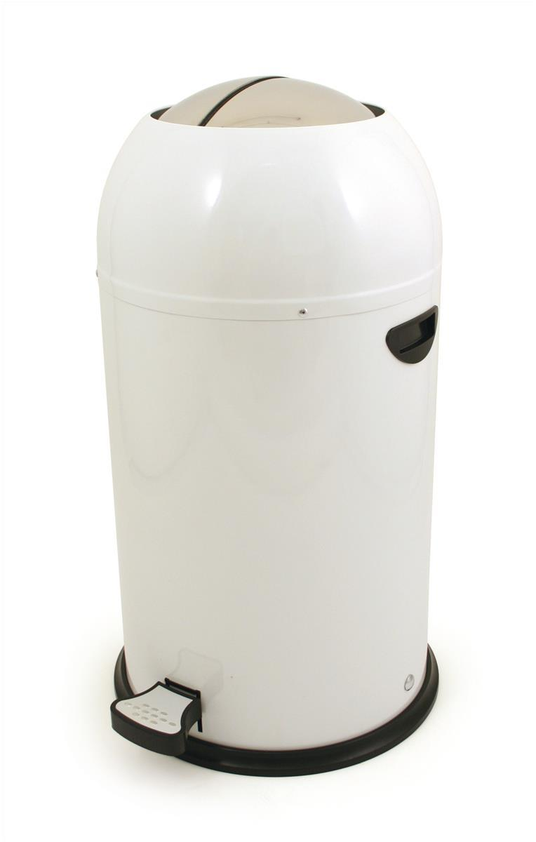 Image for Pedal Bin Plastic Bullet Shape 33 Litre White Ref SPCCAN09WHT