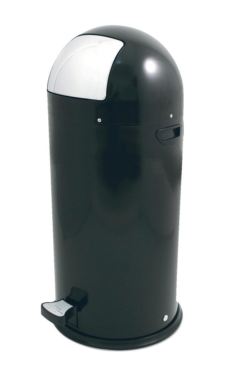 Pedal Bin Plastic Bullet Shape 52 Litre Black Ref SPCCAN05BLK