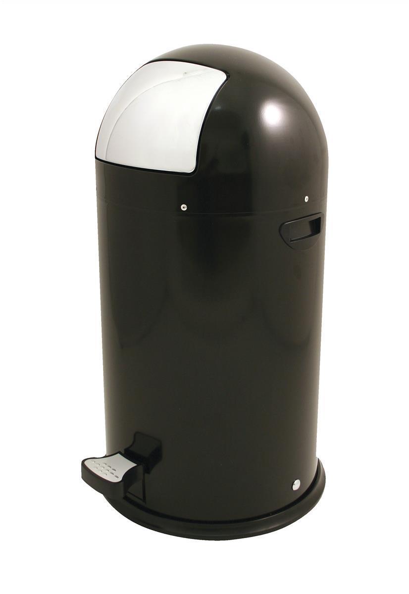 Image for Pedal Bin Plastic Bullet Shape 33 Litre Black Ref SPCCAN04BLK