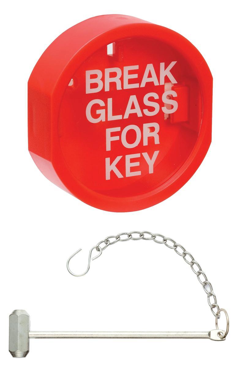 Plastic Front Keybox & Hammer Red Ref IVGSKBP