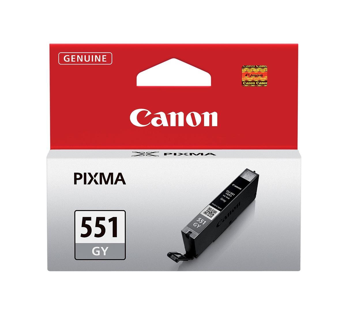 Canon CLI-551GY Inkjet Cartridge Page Life 125 Photos Grey Ref 6512B001