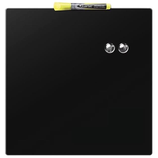 Rexel Magnetic Drywipe Board Square Tile 360x360mm Black Ref 1903774