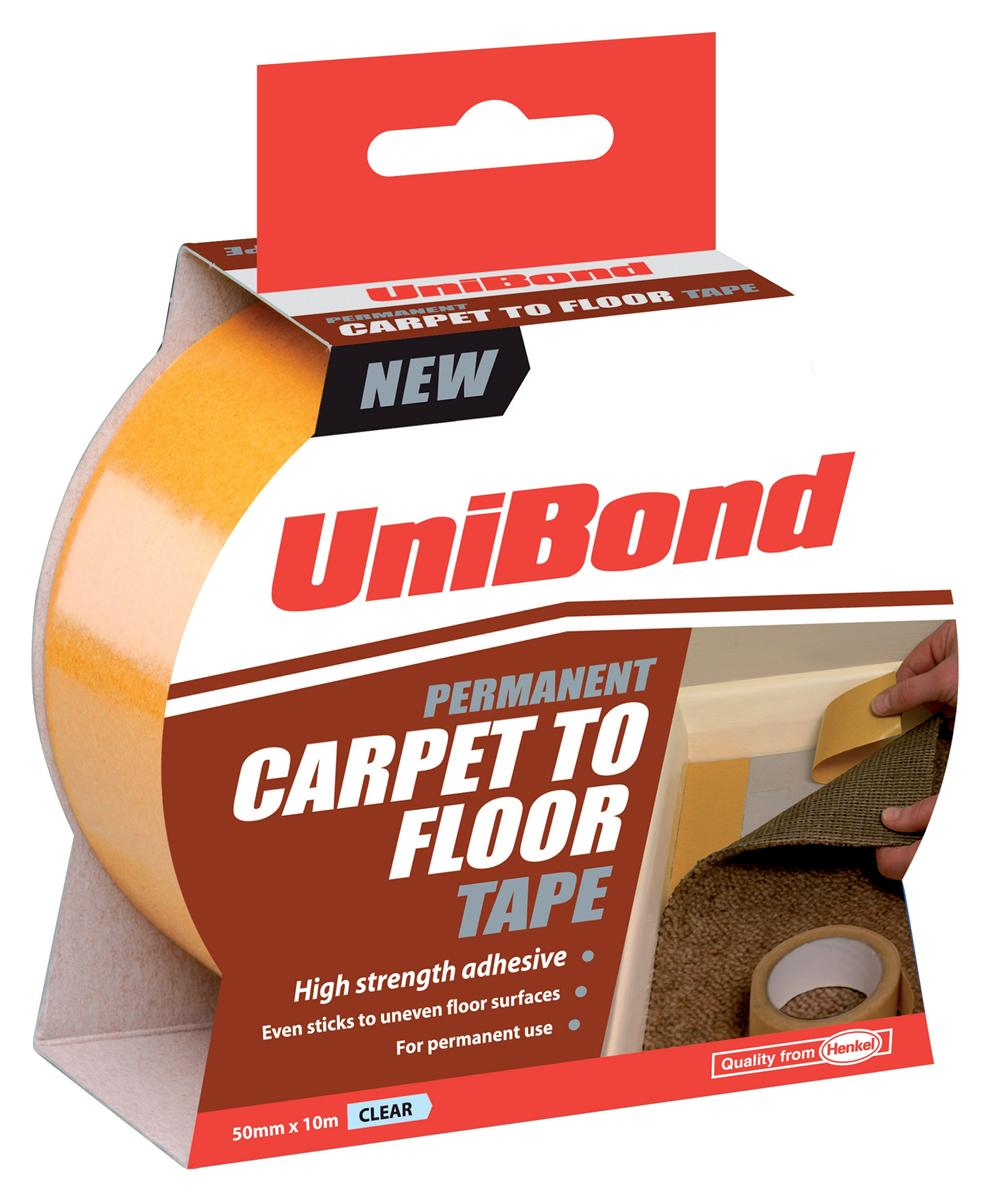 UniBond Carpet To Floor Tape Permanent 50mmx10m Ref 1667748