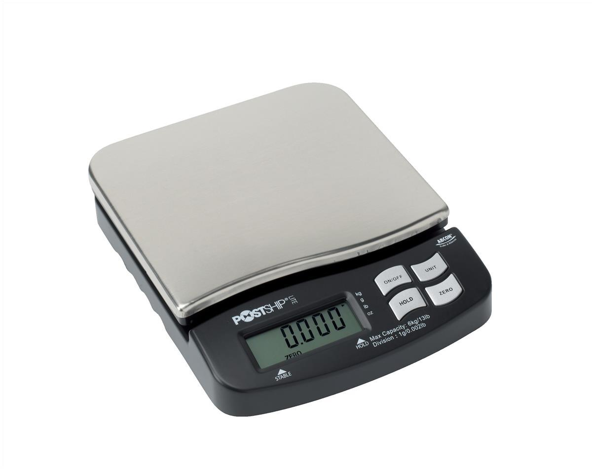 Postship Lite Scale 1g Increments Capacity 6kg Chrome and Black Ref PSL60