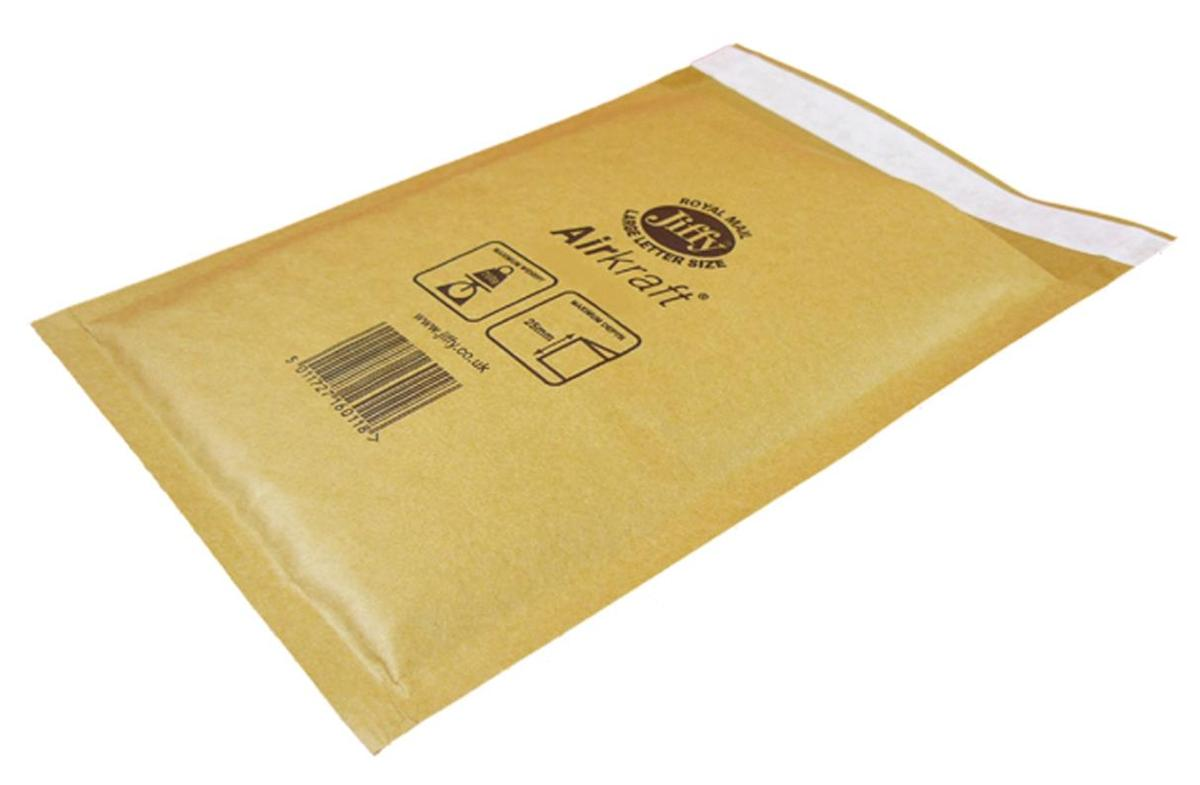 Jiffy Airkraft Bubble Bag Envelopes No.8 Gold 440x620mm Ref MAKC04221 [Pack 50]