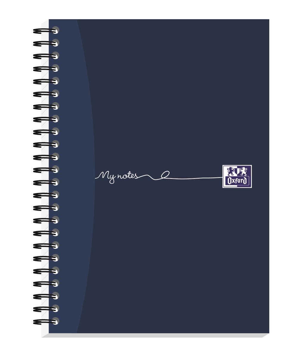 Oxford MyNotes Notebook Wirebound Feint & Margin 90gsm 200pp A5 Ref 100082372 [Pack 3]