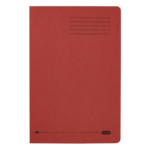 Elba Foolscap Square Cut Folder Recycled 285gsm Manilla Red Ref 100090222 [Pack 100]