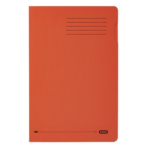 Elba Foolscap Square Cut Folder Recycled 285gsm Manilla Orange Ref 100090220 [Pack 100]