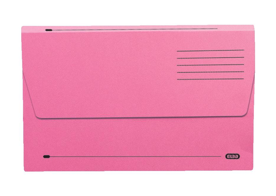Elba Document Wallet Half Flap 285gsm Capacity 30mm Foolscap Pink Ref 100090242 [Pack 50]