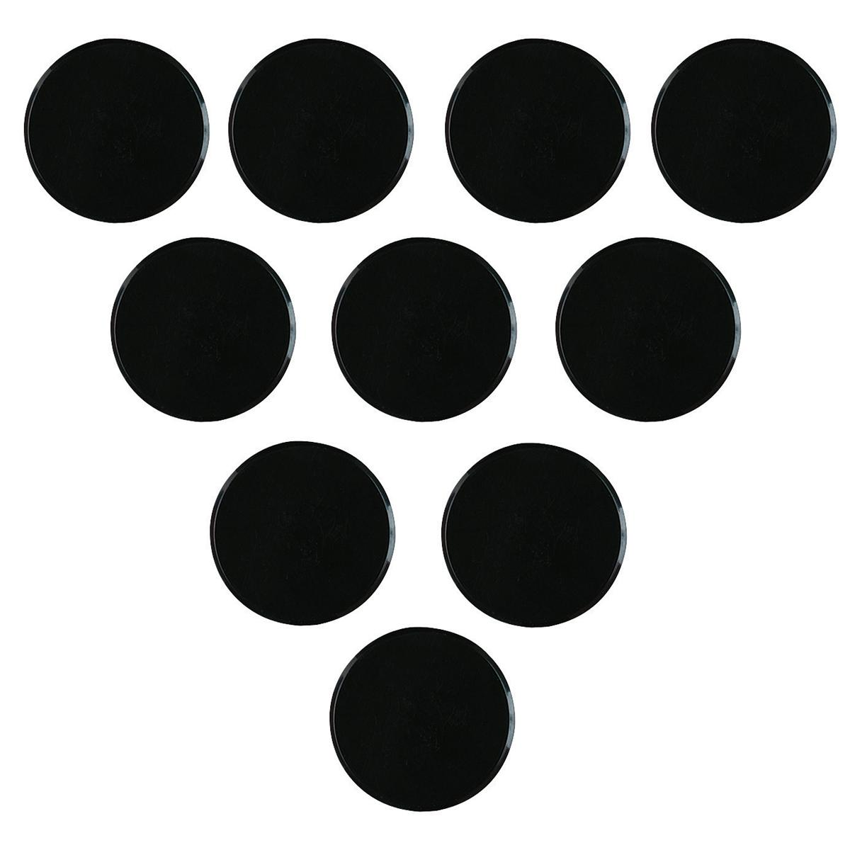 Nobo Magnet Markers Round Plastic Diameter 25mm Black Ref 1901018 [Pack 10]