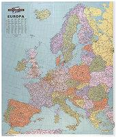 Map Marketing Europa Political Map Unframed 64 Miles to 1 inch Scale 990x1010mm Ref EUR