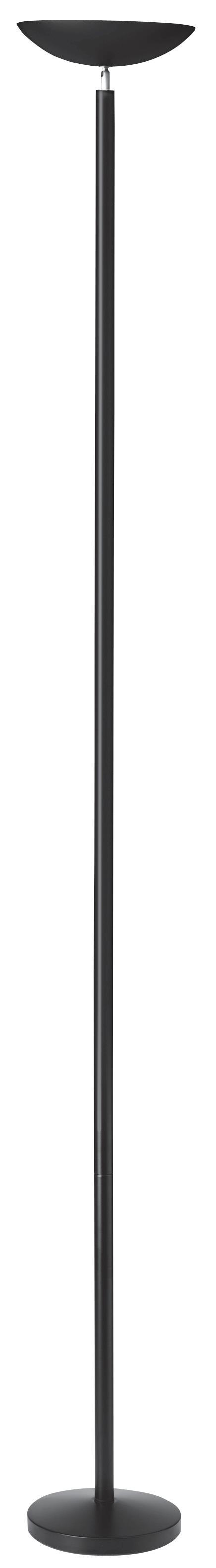 Unilux First Bowl Uplighter Halogen H1800mm Black Ref 100340558