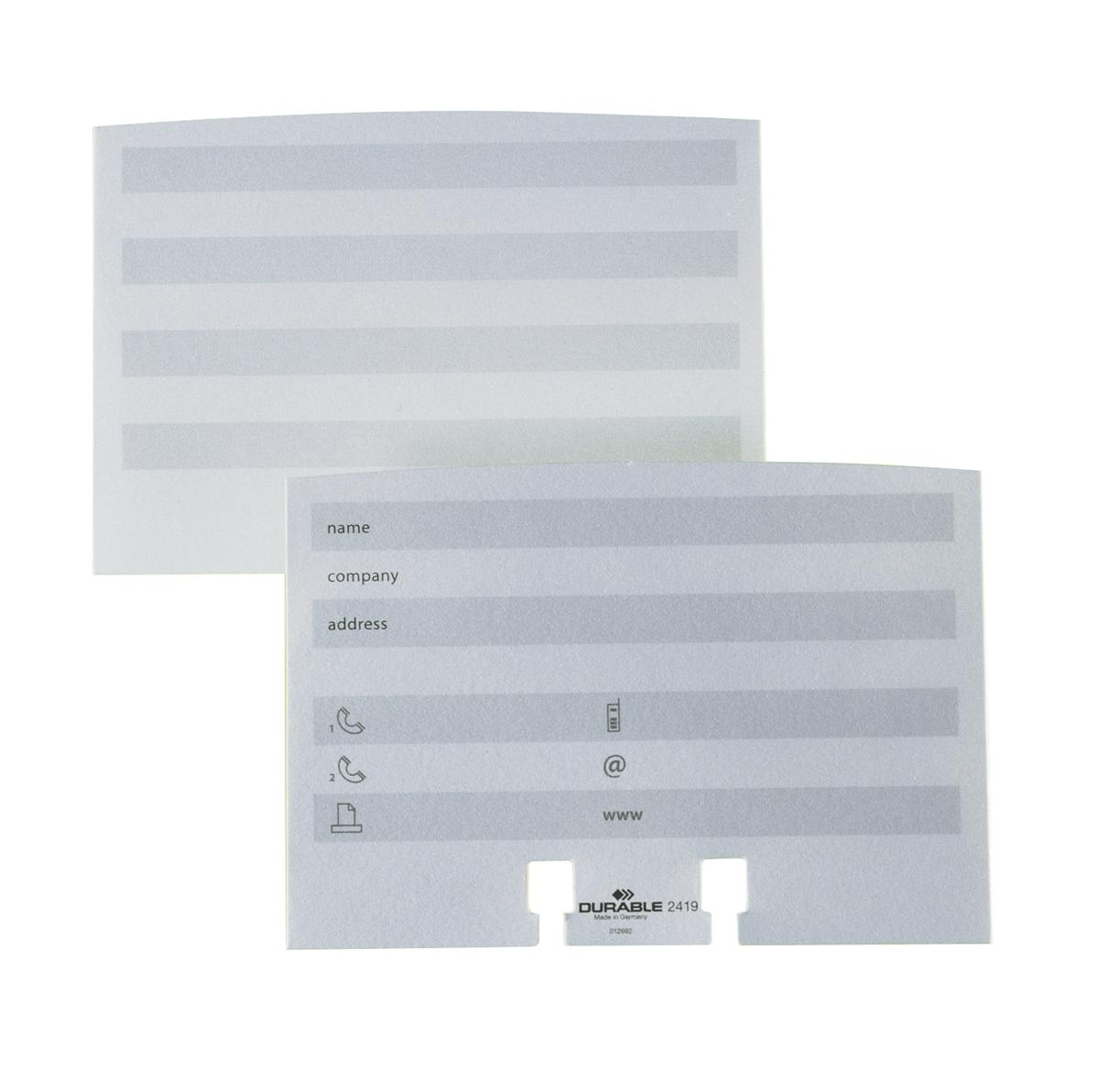 Image for Durable Refill Cards for Visifix White Ref 2419/02 [Pack 100]
