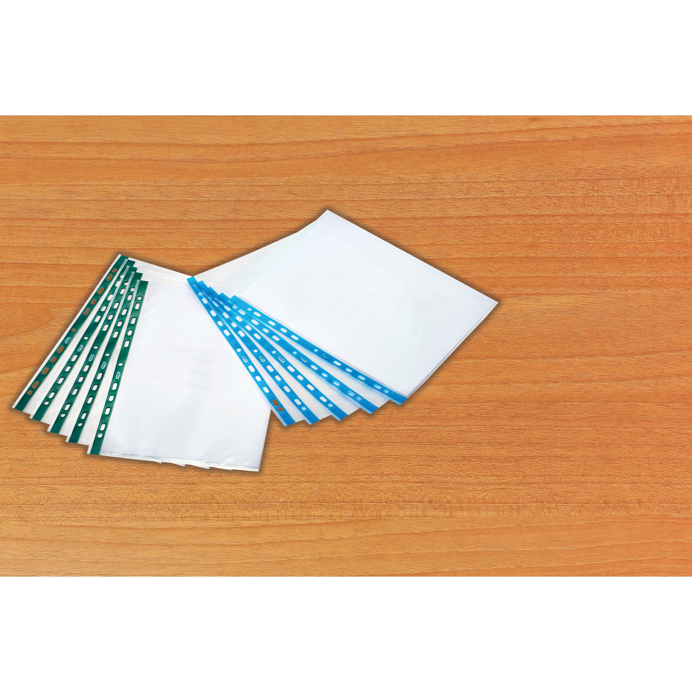 Oxford Pchd Pocket Polyprop Blue Strip Top-opening 75 Micron A4 Emb Clear Ref 400002150 Pack 100