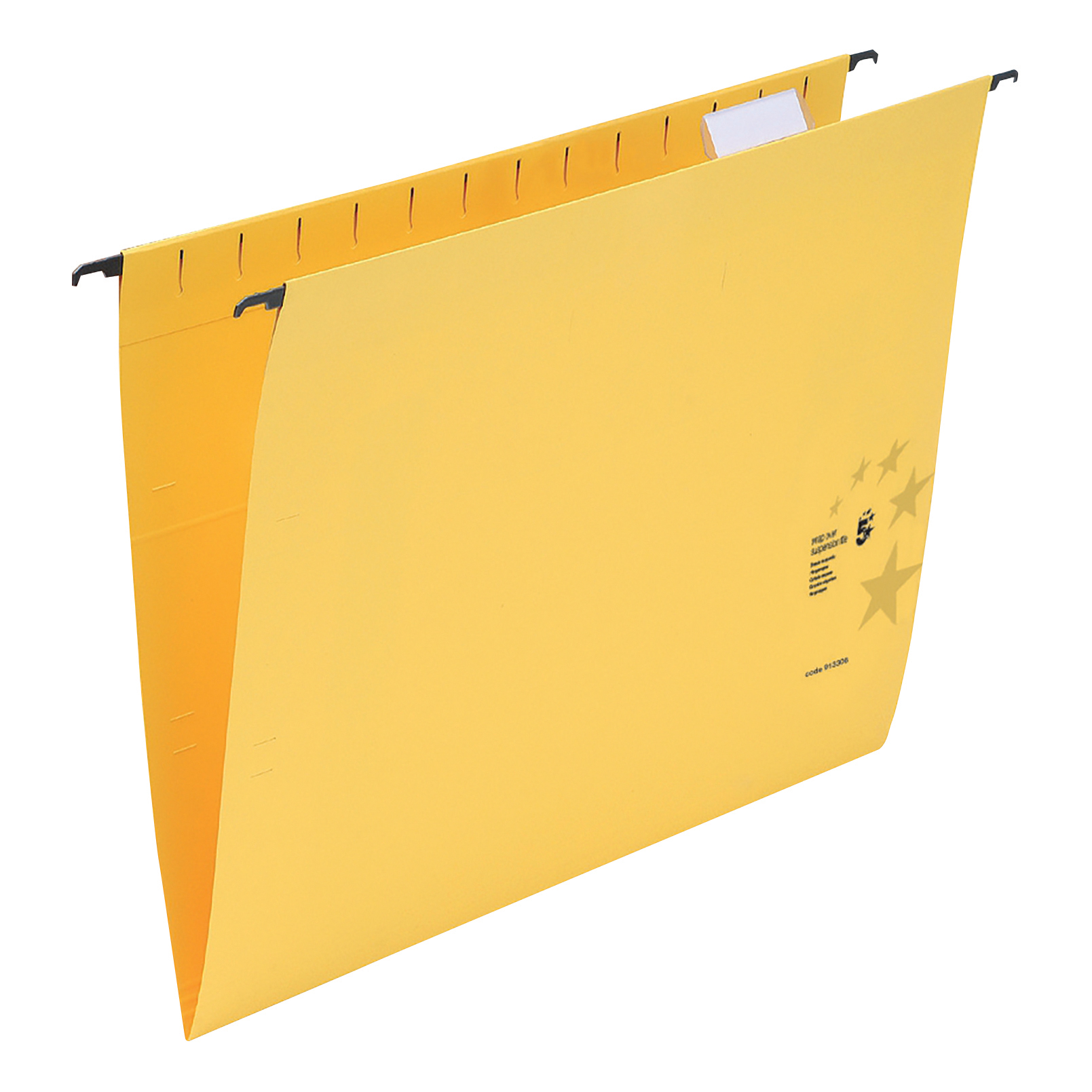 Suspension File 5 Star Office Suspension File with Tabs and Inserts Manilla 15mm V-base 230gsm Foolscap Yellow Pack 50