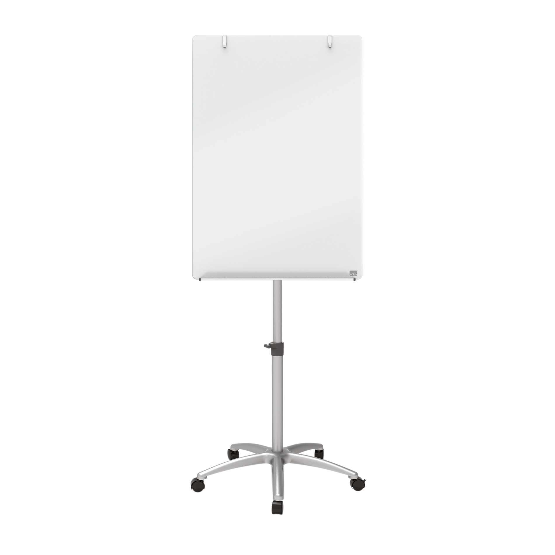 Cleaning / Erasing Nobo Brill White Mobile Easel Glass Board Size 700x1000mm W700xOverall Height 1850mm White Ref 1903949