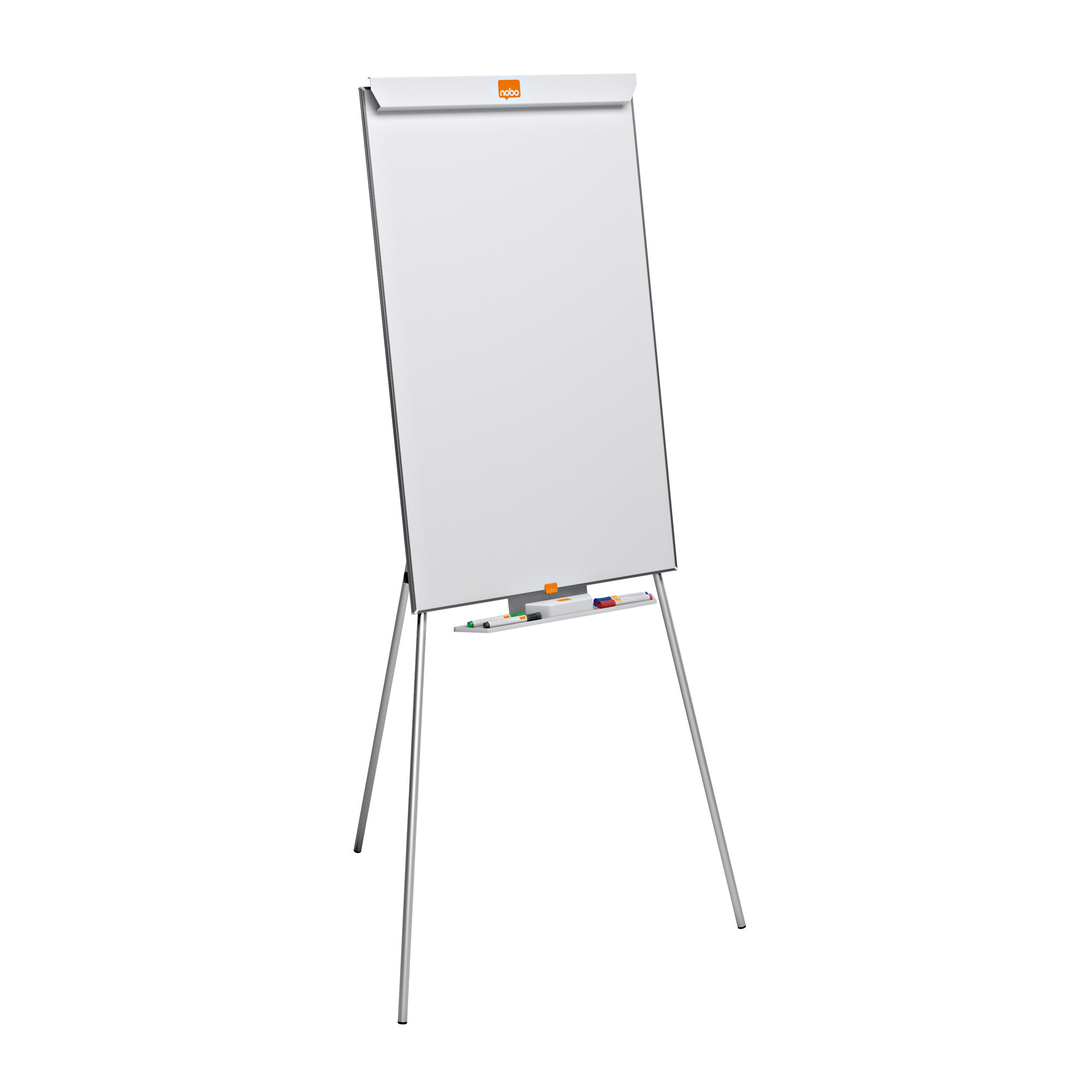 Nobo Classic Melamine Tripod Easel Height-adjustable Non-magnetic W904xH582mm White Ref 1905241