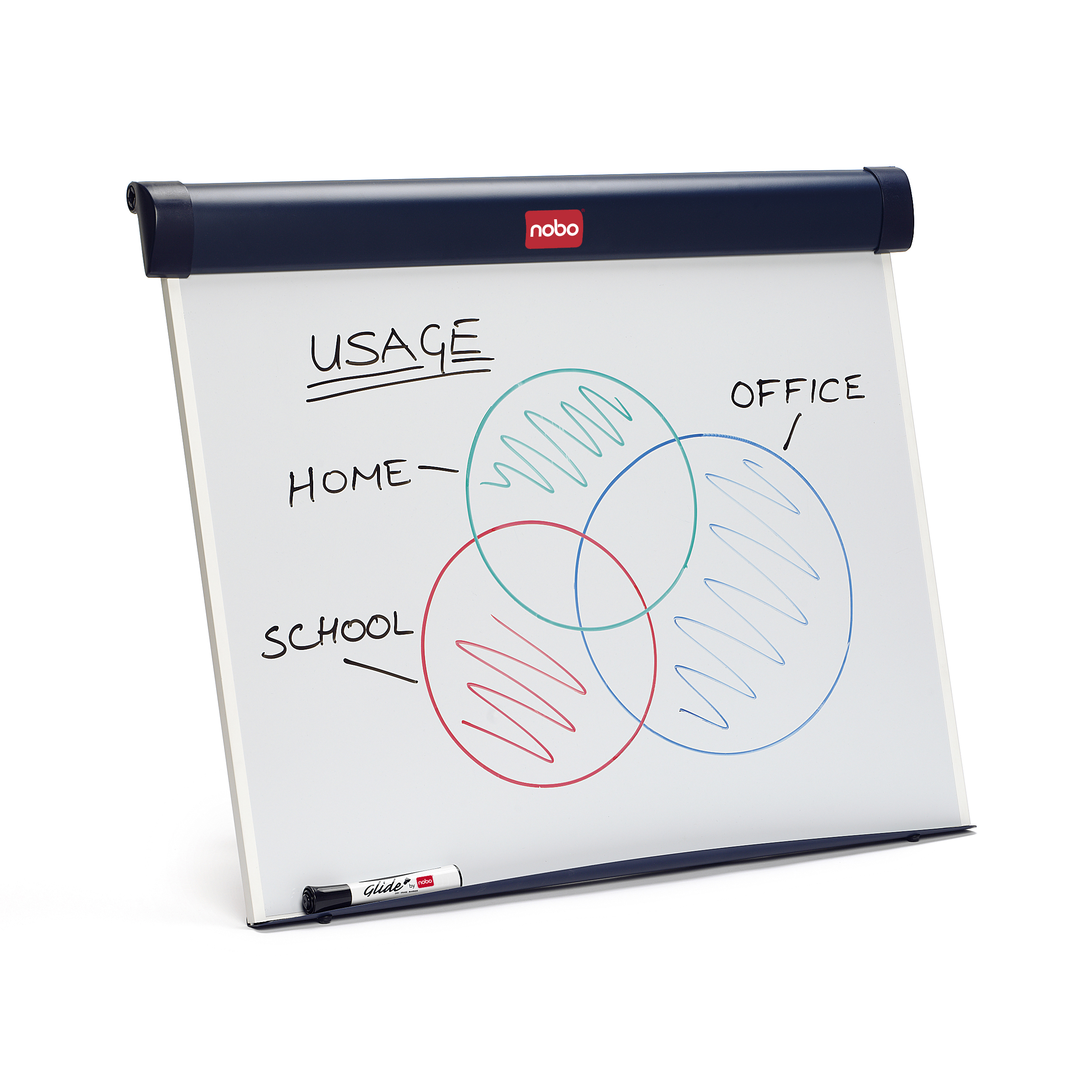 Easels Nobo Barracuda Easel Whiteboard Desktop Magnetic with B1 Flipchart and Marker W750xD105xH655mm Ref1902267