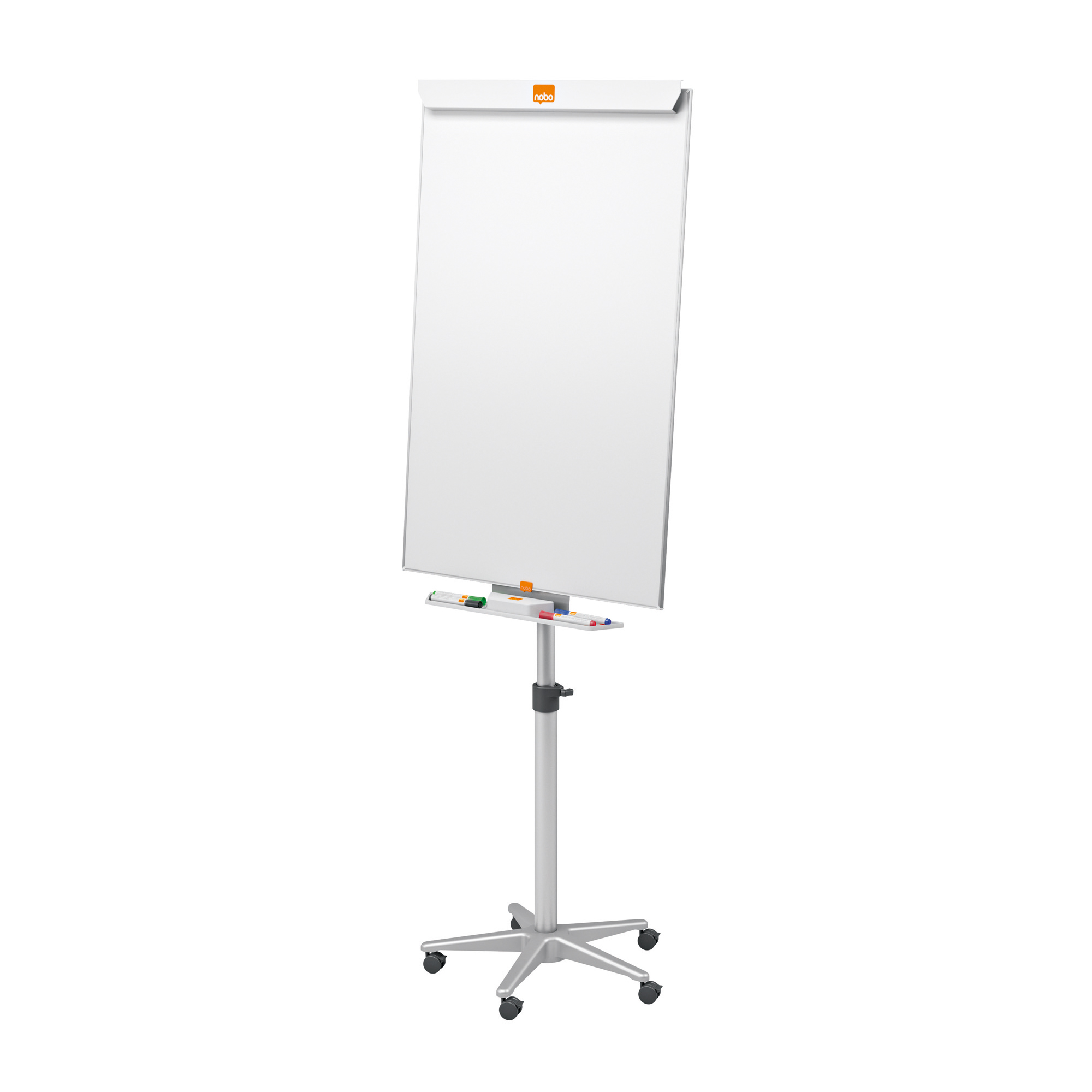 Nobo Classic Nano CleanMagnetic Mobile Easel Steel Height-adjustable 5 Castors W690xH1000mm Ref 1902386