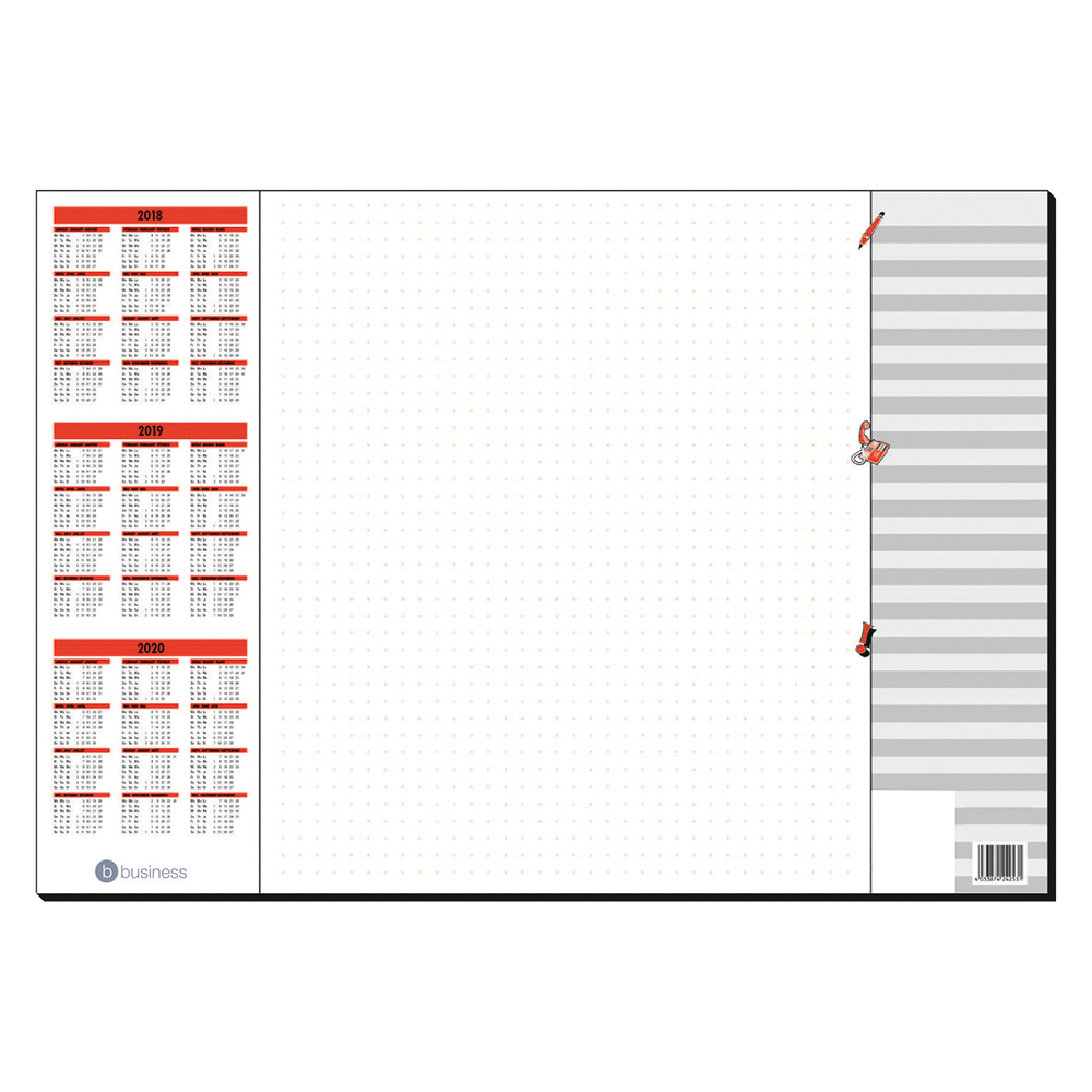 Business Paper Desk Pad 30 Sheets 590x410mm 80gsm White Printed