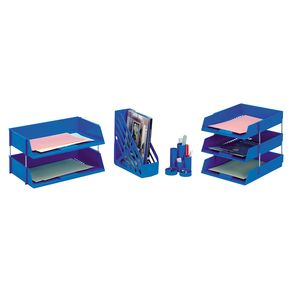 Image for Business Letter Tray High-impact Polystyrene Foolscap Blue