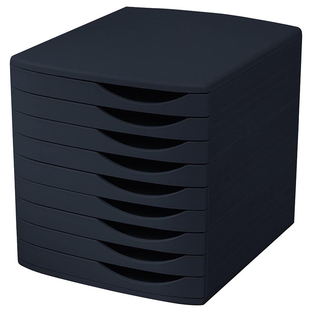 Image for Business Premium Desktop Drawer Set 9 Drawers A4 and Foolscap Black/Black