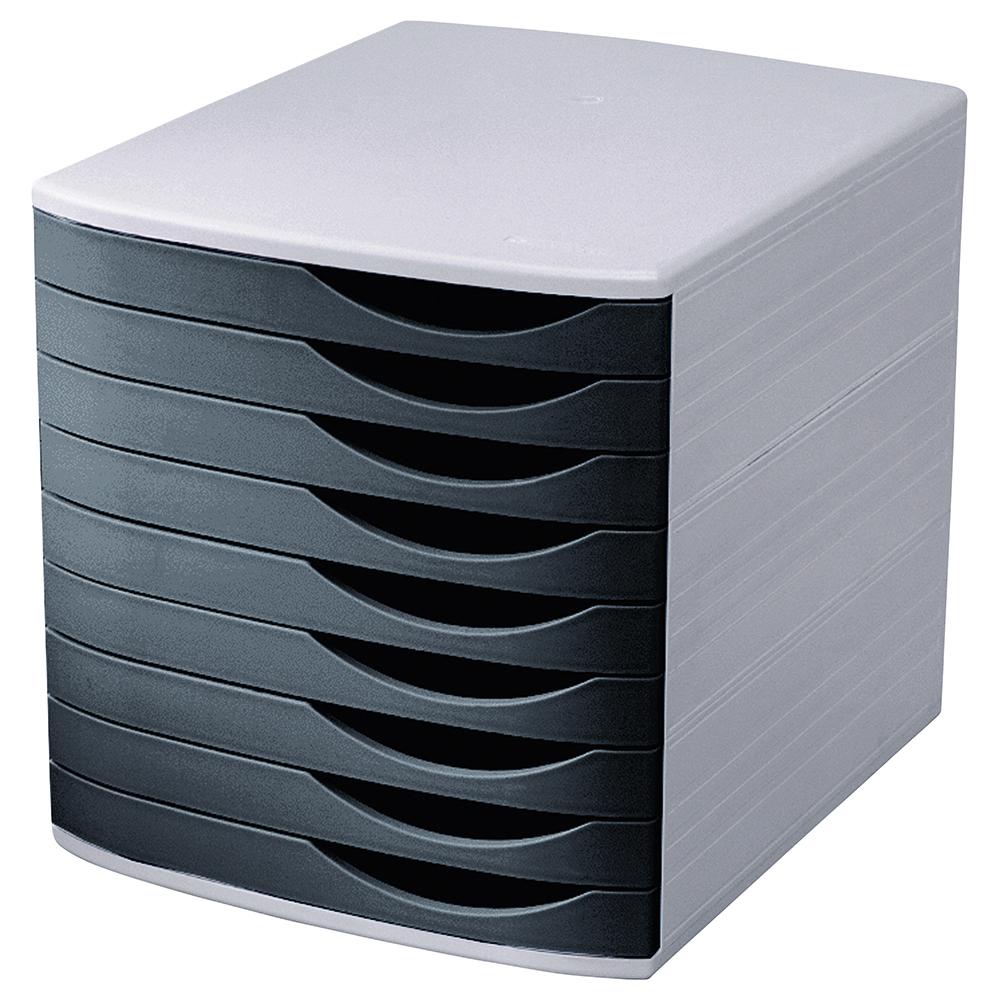 Image for Business Premium Desktop Drawer Set 9 Drawers A4 and Foolscap Grey/Black