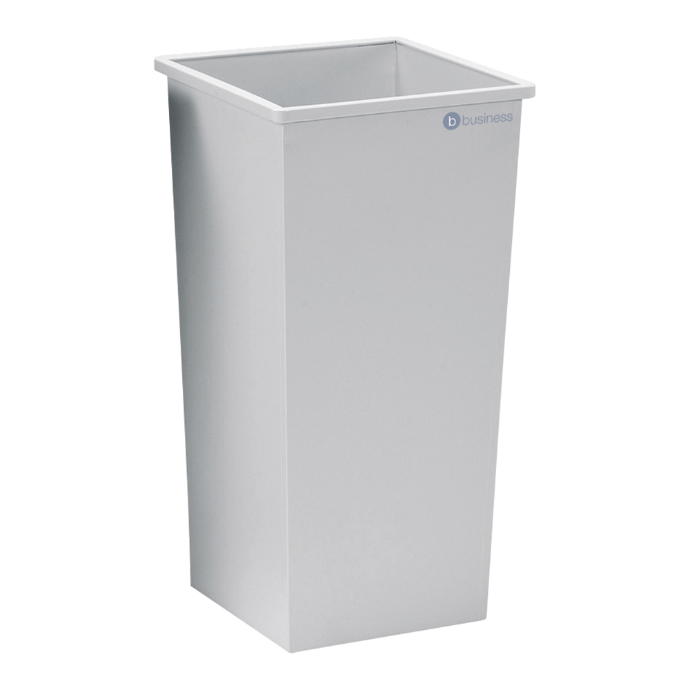 Business Waste Bin Square Metal Scratch-resistant W325xD325xH642mm 48 Litres Grey