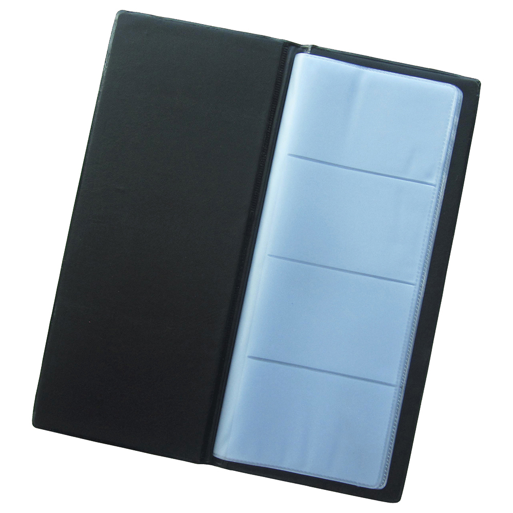 Business Card Holder 64 Pockets for 128 Cards Black