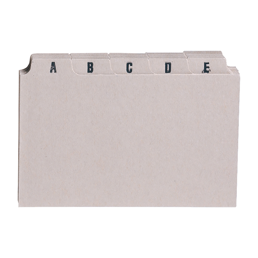 Image for Business Guide Card Set A-Z 8x5in 25 Cards 203x127mm Buff