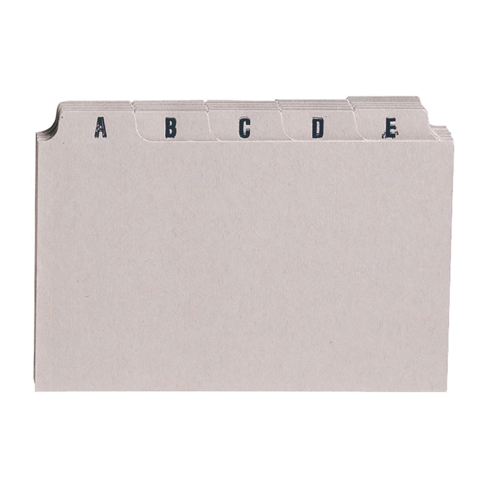Image for Business Guide Card Set A-Z 6x4in 25 Cards 152x102mm Buff