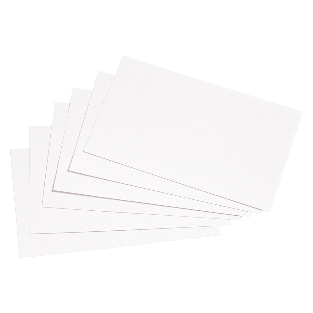 Image for Business Record Cards Blank 5x3in 127x76mm White [Pack 100]