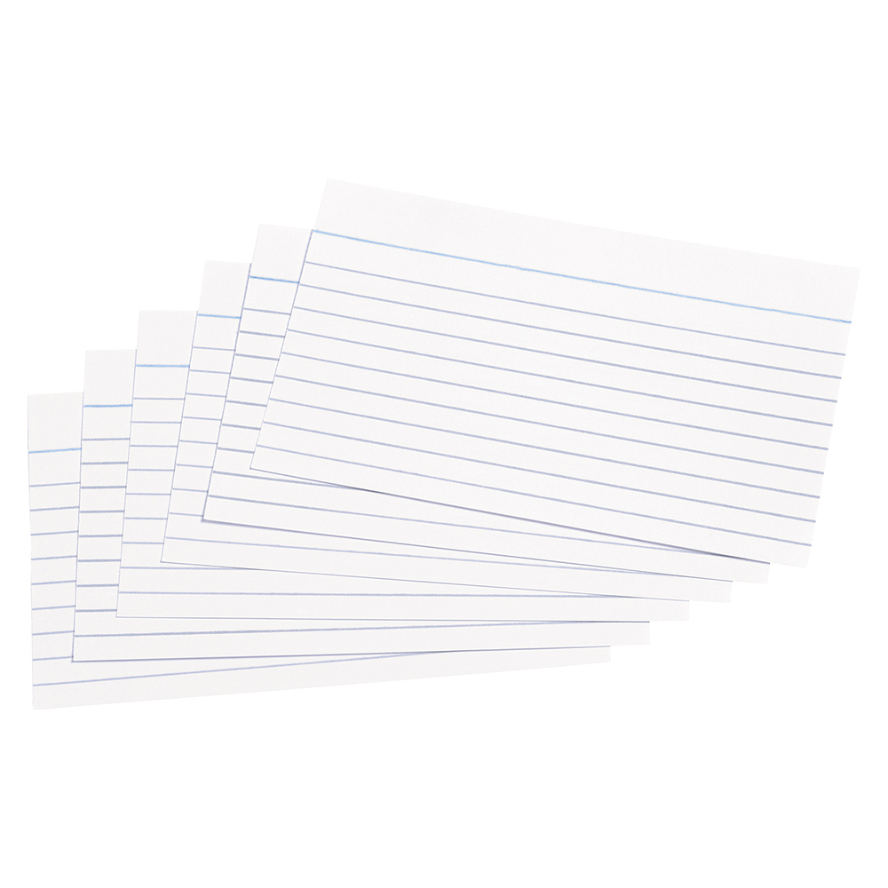 Image for Business Record Cards Ruled Both Sides 5x3in 127x76mm White [Pack 100]