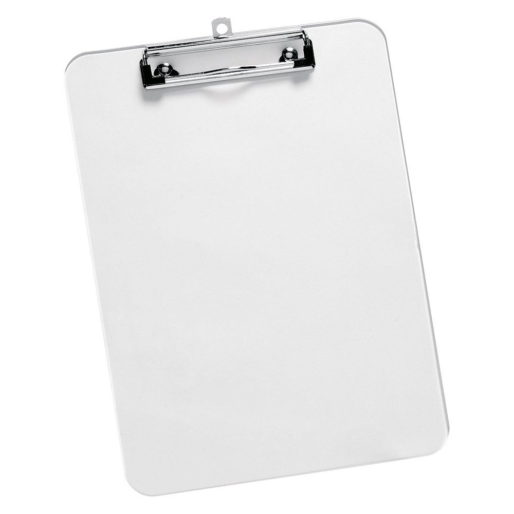 Business Clipboard Solid Plastic Durable with Rounded Corners A4 Clear