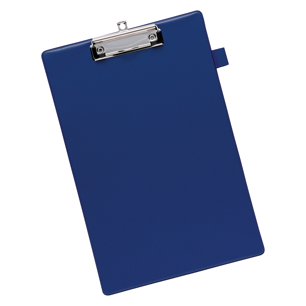 Business Standard Clipboard with PVC Cover Foolscap Blue