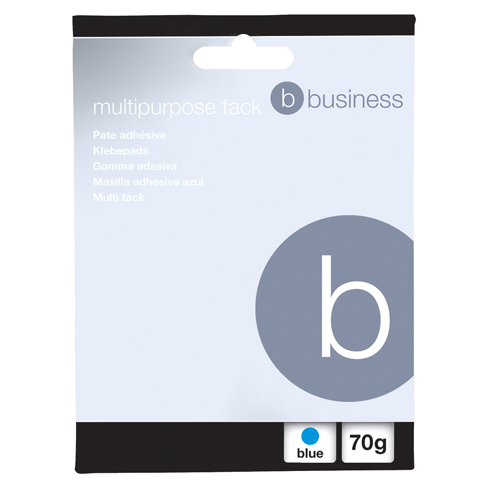 Image for Business Multipurpose Tack Adhesive Re-usable Non-toxic 70g Blue [Pack 12]