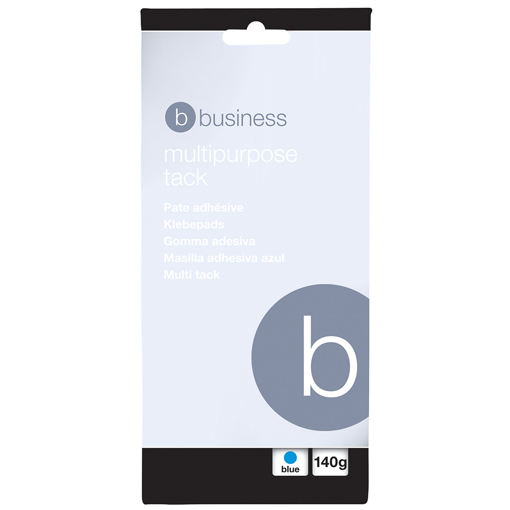 Image for Business Multipurpose Tack Adhesive Re-usable Non-toxic 140g Blue [Pack 12]