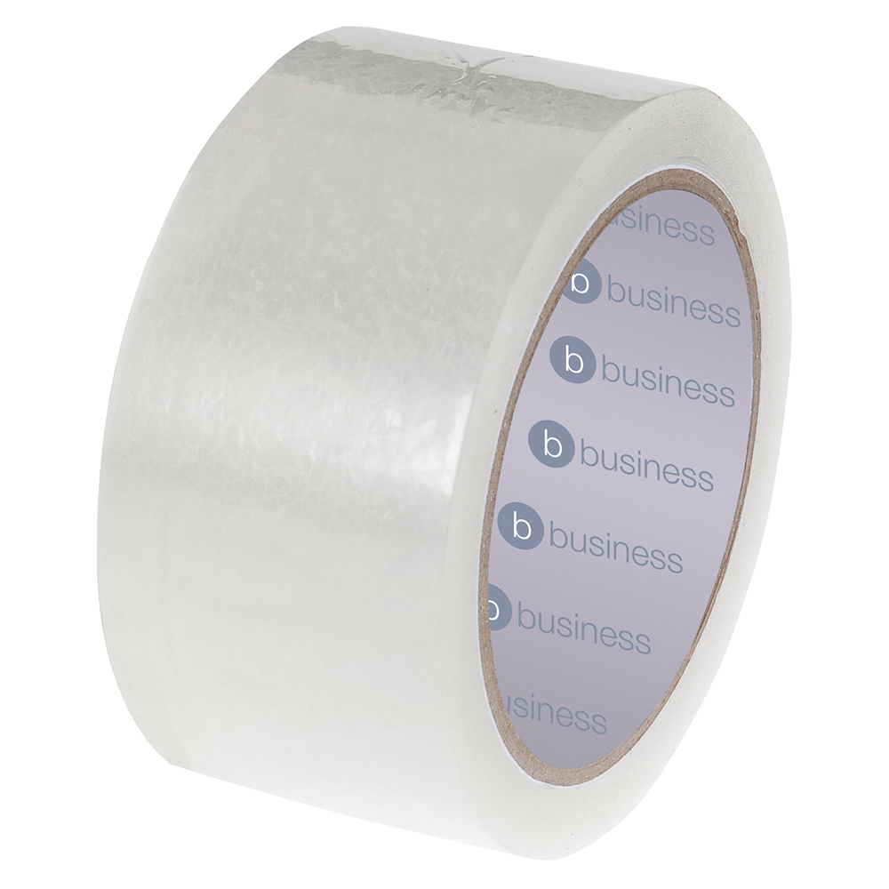 Image for Business Clear Tape Roll Large Easy-tear Polypropylene 40 Microns 48mm x 66m [Pack 3]