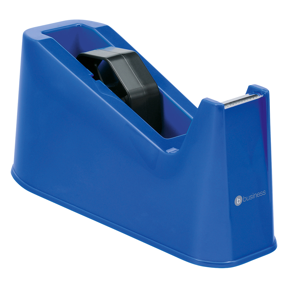 Image for Business Tape Dispenser Desktop Weighted Non-slip Roll Capacity 25mm Width 66m Length Blue