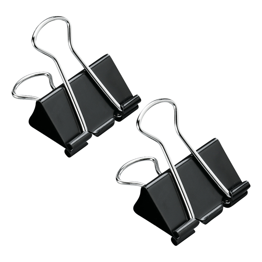Image for Business Foldback Clips 32mm Black [Pack 12]